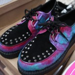 black studded pink purple turquoise creepers
