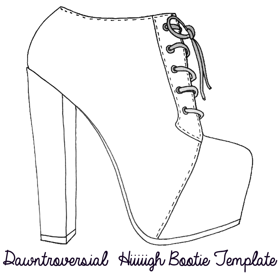 high heel shoe design template - dawntroversial hand over your heels