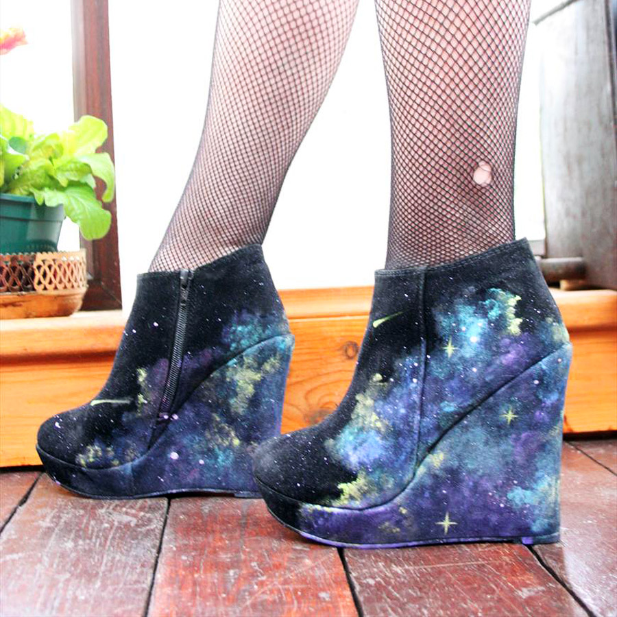 Galaxy Suede Wedges