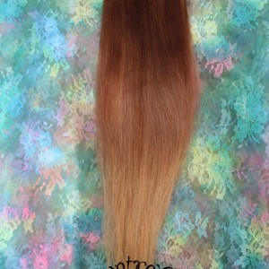 natural ombre brown honey extensions